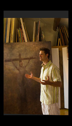 in Saignon France,  artist  Andrew Petrov talks about his work