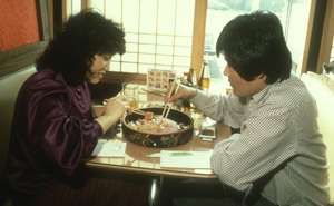 Chinese - Korean couple at dinner