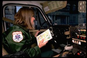 NYC EMS driver studies map